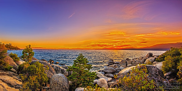"""Calm in the Chaos,"" Lake Tahoe Sunset, Lake Tahoe, Nevada"