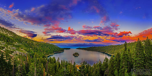 """Destiny's Exit,"" Emerald Bay Sunset, Emerald Bay, Lake Tahoe, California"
