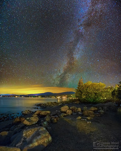 """Clash of the Worlds,"" The Milky Way over North Lake Tahoe, Lake Tahoe Milky Way, Lake Tahoe, California"