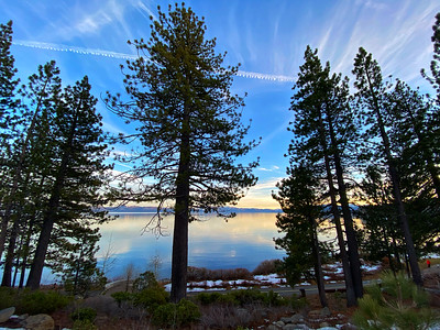 Walking path along Lake of  Lake Tahoe, Tahoe City, California