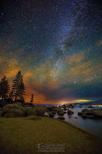 """Sandy Stars,"" Lake Tahoe Milky Way, Sand Harbor, Lake Tahoe, Nevada"