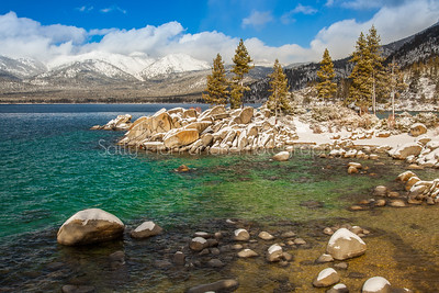 Sand Harbor Winter Water Wonderland