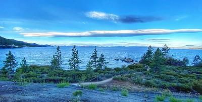 Walking path along Lake of  Lake Tahoe, Nevada