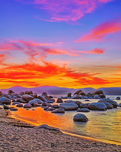 """Painted Sunset,"" Sand Harbor, Lake Tahoe, Nevada"