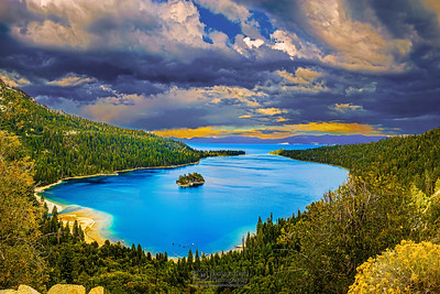 """Emerald Storm,"" Storm over Emerald Bay, Lake Tahoe, Cailfornia"