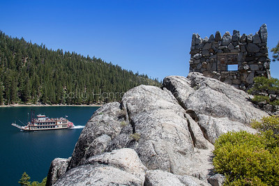 M.S. Dixie ll and Fannett Island Teahouse - Emerald Bay, Lake Tahoe