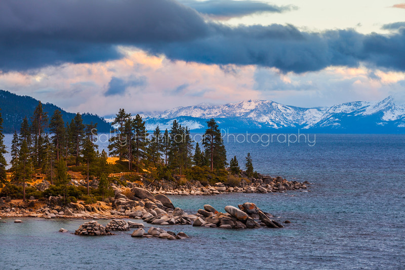 Sand Harbor Sunset-Lake Tahoe Nevada