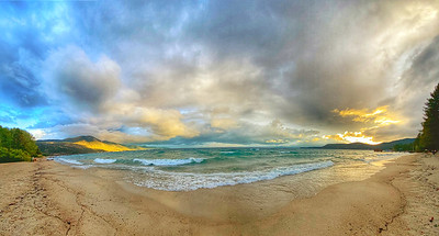 Sunset Panoramic, Lake Tahoe, Incline Village Beach, Incline Nevada