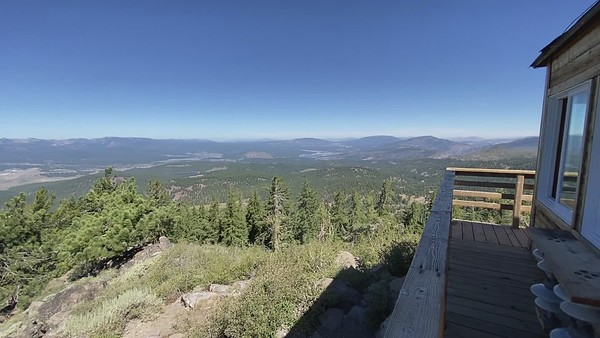 View from Martis Peak Fire Lookout