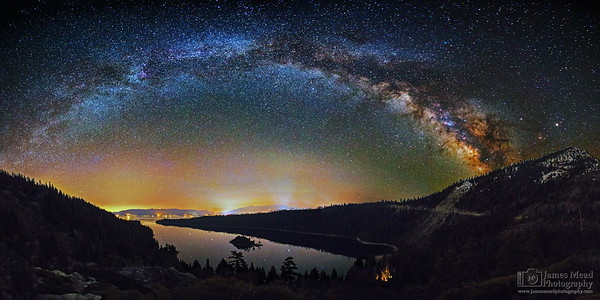 """Emerald Arch,"" Emerald Bay Milky Way, Emerald Bay State Park, Lake Tahoe, California"