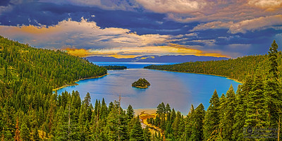 """Split Sky,"" Emerald Bay, Lake Tahoe, California"