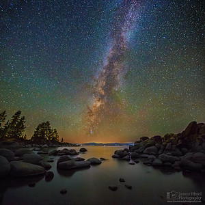"""Rock Haven"" Sand Harbor Milky Way, Lake Tahoe, Nevada"