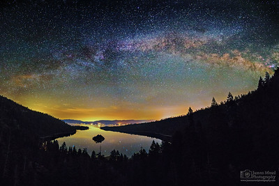 """Emerald Starlight,"" Emerald Bay Milky Way, Emerald Bay State Park, Lake Tahoe, California"