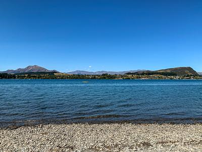 lake Wanaka with backdrop of the Southern Alps, Wanaka Otago South Island New Zealand