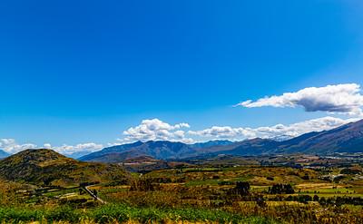 Southern Alps , Ka tiritiri o te Moana,  just outside  Queenstown, Otago, South Island, New Zealand, on the way to Wanaka on a crazy beautiful sky day