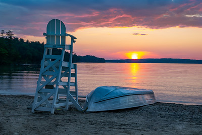 Summer Sunset on Lake Winnipesaukee