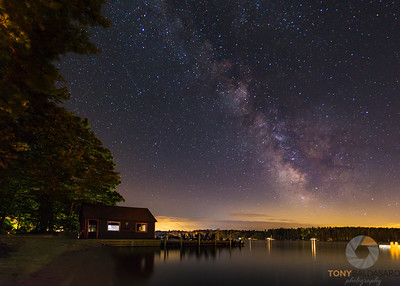 Milky Way Over Lakeside