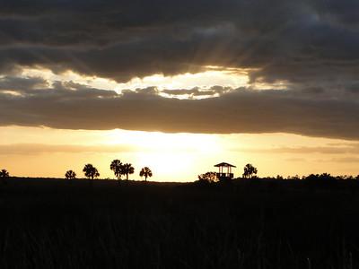 Sunset at the Audubon, Lookout Tower at the Lake Woodruff Wildlife Refuge