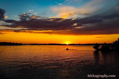 Riding off into the sunset.  Crystal Bay, Lake Minnetonka, MN