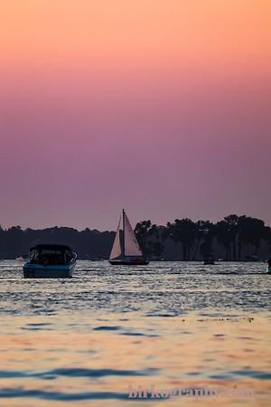 Summer on the lake.  Excelsior Bay, Lake Minnetonka, MN