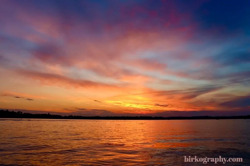 Lake Minnetonka sunset.  Shot from Wayzata Bay