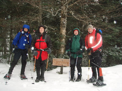 Lake of the Clouds Hut is at 5,050 feet and located on the southern shoulder of Mt. Washington, the highest peak in the northeast at 6,288 feet. Our approach used the Ammonoosuc Ravine Trail near Bretton Woods, NH at the base of the Cog Railroad called Marshfield Station.