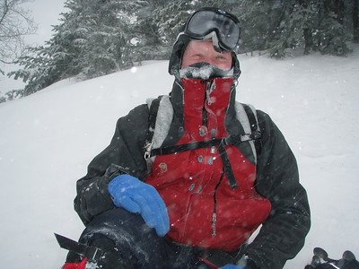 Temperature was about 2 degrees and thankfully the wind was on our back with a speed of about 25 degrees.