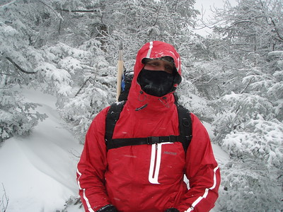 Steve drove up from New York City to join us without much winter experience but he did attend one of our training hikes across the Franconia Ridge.
