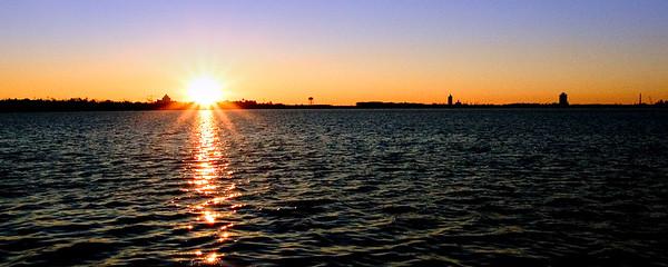 Sunset on Lake Charles, Louisiana