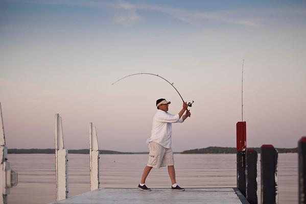 Fishing on Lake Geneva
