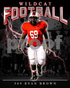 69 Ryan Brown LHHS FB Poster