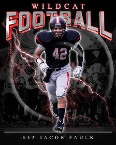 42 Jacob  Faulk LHHS FB Poster