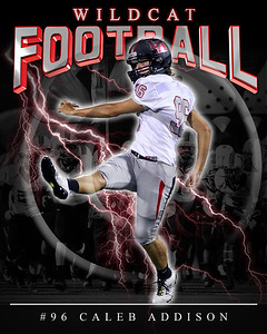 96 Caleb  Addison LHHS FB Poster