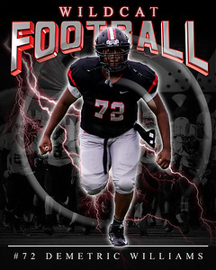 72 Demetric Williams LHHS FB Poster