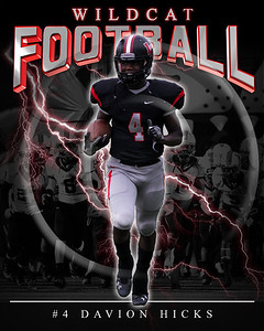 04 Davion Hicks LHHS Football Poster