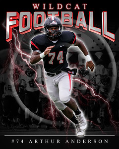 74 Arthur Anderson LHHS FB Poster