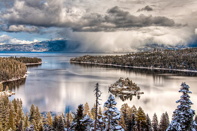 lake-snow