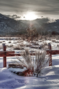 snowy-fence-sunrise