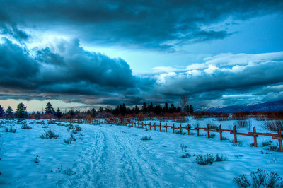 snowy-path-sunset