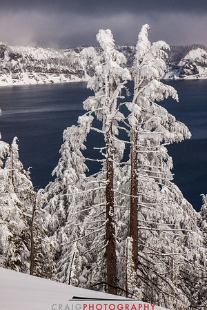 Crater Lake Oregon snow 6