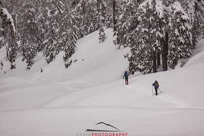 Crater Lake Oregon snow 2