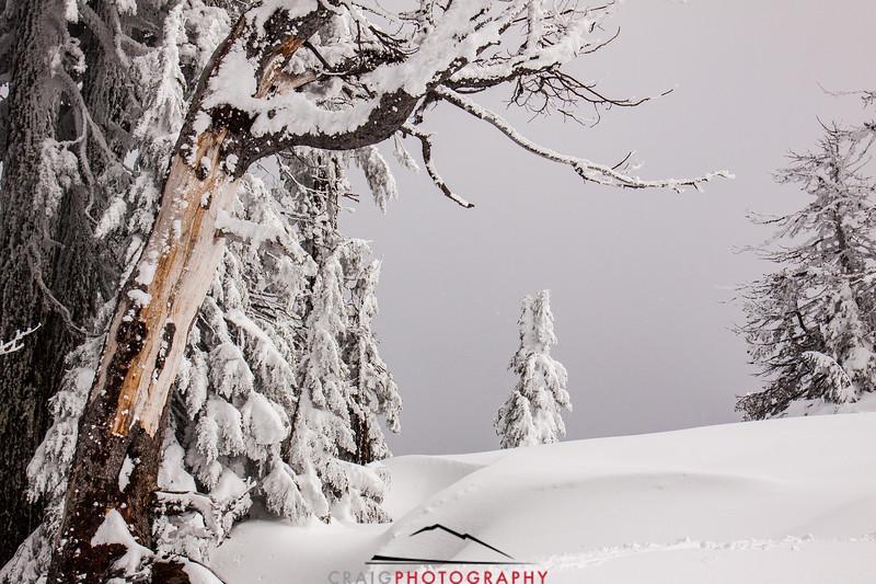 Crater Lake Oregon snow 1