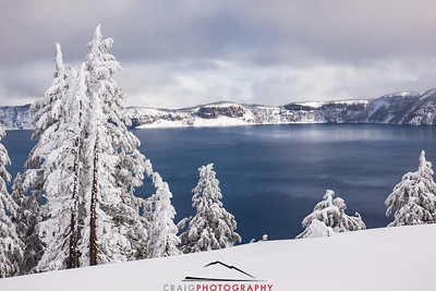 Crater Lake Oregon snow 5