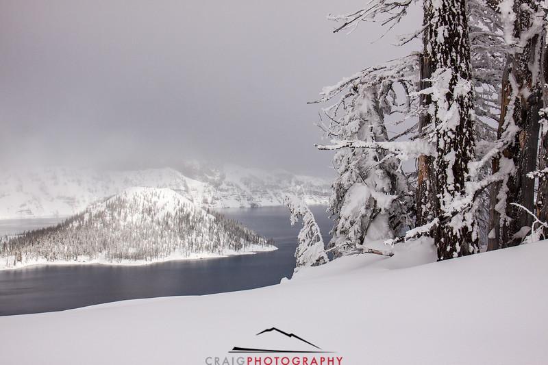 Crater Lake Oregon snow 3