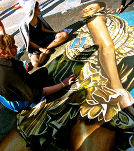 Lake Worth Street Painting Festival, February 2009.