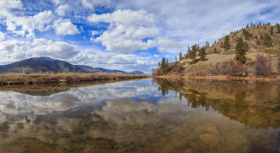 Skaha Pond Sunny Day Panoramic