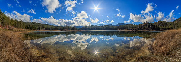 Mahoney Lake Sunflare Panoramic