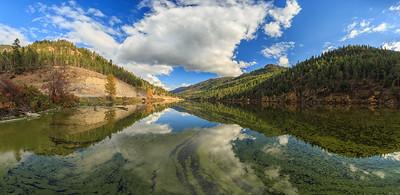 Autumn At Yellow Lake - A Panoramic