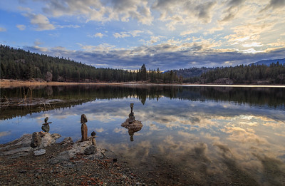 Mahoney Lake Golden Hour Autumn 2019