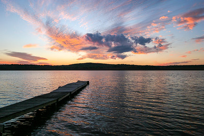 October Sky at Sunset on Budd Lake
